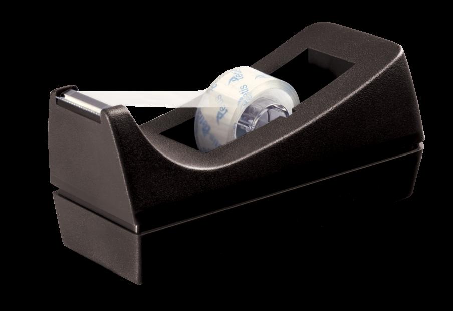 <p>Praktyczny podajnik do taśmy klejącej o szerokości do 18 mm. Cechuje się masywną i trwałą obudową.</p>